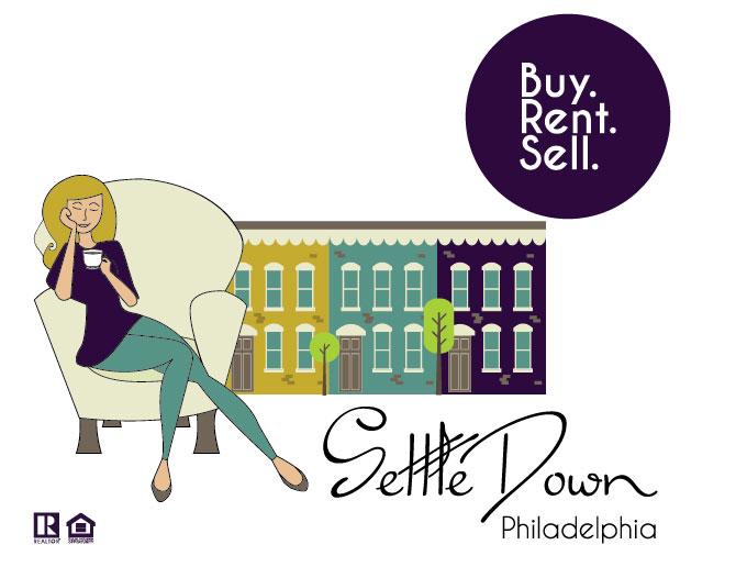 settle down philadelphia logo
